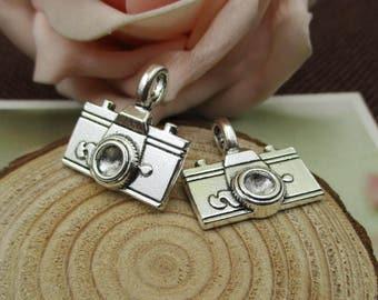 5Pcs 21x20mm Silver Camera Charms-p1704-B