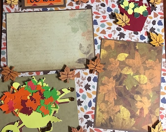 "One 12x12 Premade Scrapbook Page-""Fall"""