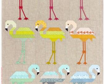 Florence Flamingo Quilt Kit- Pond Fabric- Elizabeth Hartman