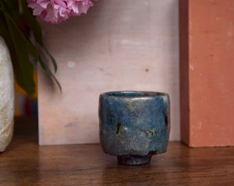 Stoneware tea cup, (little) yunomi