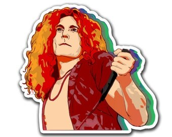Led Zeppelin Sticker - Whole Lotta Plant