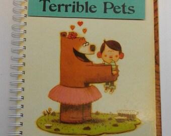 Children Make Terrible Pets recylced book journal, storybook journal