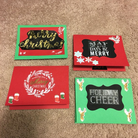 Holiday cheer Christmas card set