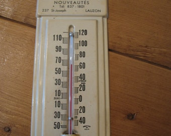 Thermometer advertising canada Lauzon Quebec 1960 collector's item.