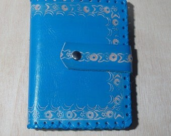 Embassed Leather Notebook handmade craftwork