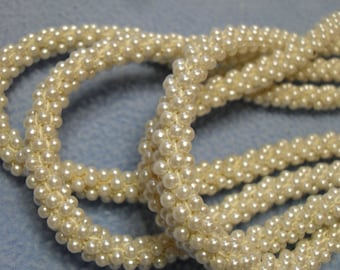 SALE!! 2 Vintage Braided Faux Seed Pearl Necklaces (was 10.00)