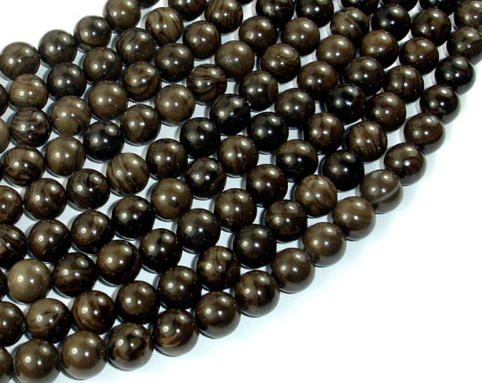 Coffee Jasper, 8mm(8.7mm) Round Beads, 15.5 Inch, Full strand, Approx 45 beads, Hole 1mm, A quality (227054003)
