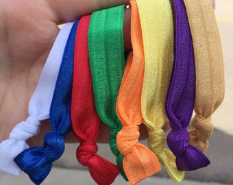 Bulk young womens value color hair ties (FREE SHIPPING)