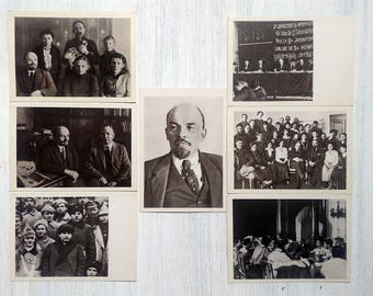 Lenin Postcard Set of 21 Soviet Vintage USSR in 1969 Rare Collectible postcard Revolution Soviet propaganda revolution postcards