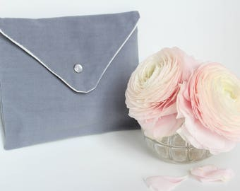 """Dark gray"" cover, toiletry, handbag - dark grey - cover made from old fabric """
