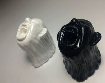 Yelling Face Sculptures