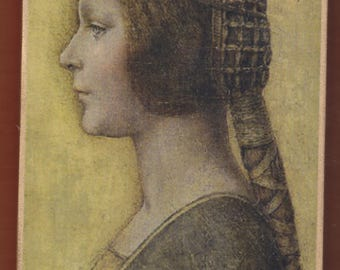 "Portrait of a Young Fiancée,La Bella Principessa (English: ""The Beautiful Princess""),Leonardo da Vinci."