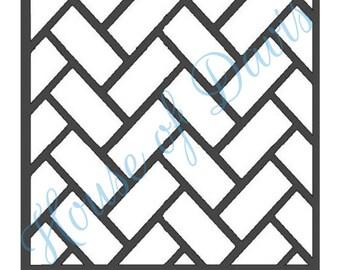 Brick Stencil (Style 2) - 12X12