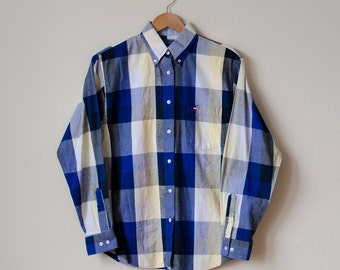 Vintage Texas Cotton Plaid Button-Up