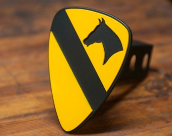 1th Cavalry Division Trailer Hitch Cover