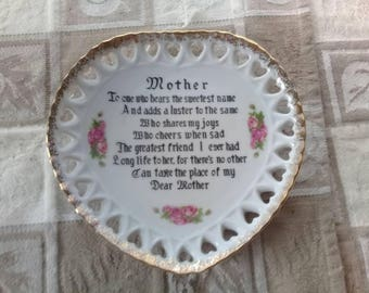Vintage Mothers Plate Wall Decor ~ Japan