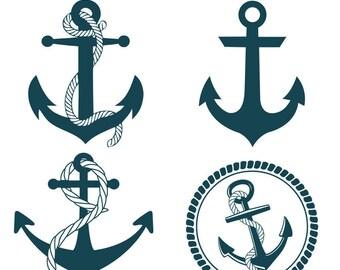 Anchor SVG Nautical SVG DXF Sailing Sailor Anchor Printable Clipart  Vector