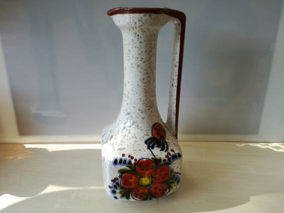 Retro flowered Vase, non marked