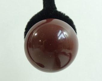 60s chunky earrings, brown minimalist circle earrings, acrylic earrings, 1960s mad men classic vintage earrings, costume jewelry