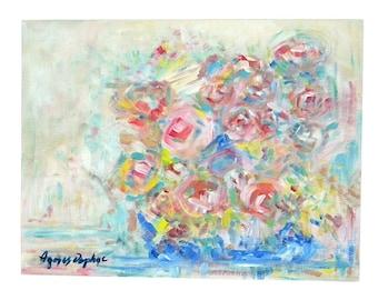 "Original abstract acrylic painting ""Flowerpot"""