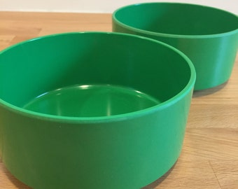 Vintage Heller Green Soup Bowl Cereal Bowl | Lella and Massimo Vignelli Designed 1960s | Hellerware Dinnerware Made in USA