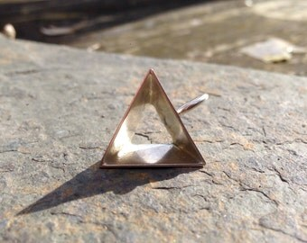 Pride pendant, necklace // Pride jewelry // Lesbian, gay, bisexual, transgender, LGBT equality // Tetrahedron 3D triangle