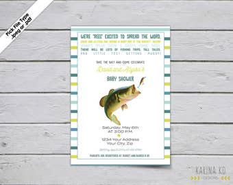 Fishing Baby 5x7 Baby Shower Invitation