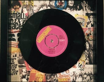 Retro Vintage Original Framed Vinyl 'No.1 Hit Record 'On the day you were born' 1968 Unique 50th Birthday Gift