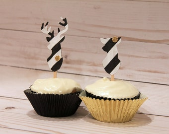 Buck & Doe cupcake toppers 12