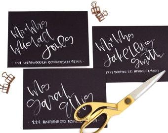 Watercolor Calligraphy Addressed Envelope - Wedding Envelopes - Calligraphy - Baby - Holiday - Custom - Envelope - Brush Lettering