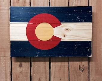 Colorado Flag on Wood - 11x17 - Colorado Wall Art - Colorado Flag - Colorado Wall Decor - Colorado Sign - State Flag - CO Flag - CO Wall Art