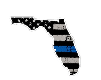 Florida State (U1) Thin Blue Line Vinyl Yeti Tumbler Decal Sticker Laptop/Netbook