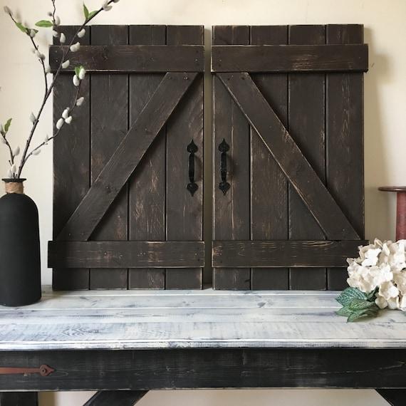 Mini Barn Door Wall Hanging Wood Shutters Barn Door Decor