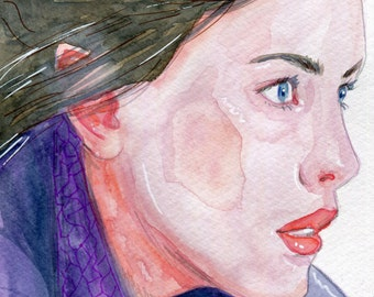 ORIGINAL - Arwen - The Lord of the Rings - watercolour painting