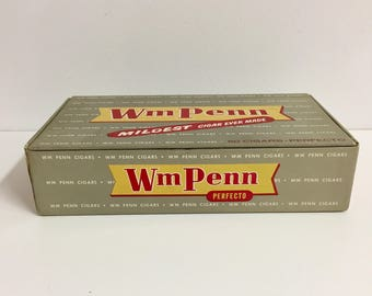 Wm Penn Cigar Box/ Vintage Cigar Box