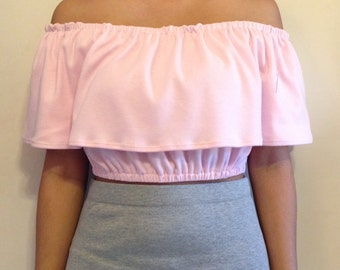 Off the Shoulder Ruffled Crop Top / off the shoulder / ruffle / ruffles / crop top / cropped top / ruffled crop top / ruffled top