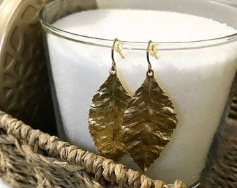 Fallen leaf earrings