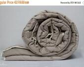 ON SALE KING Comforter, perfect comfort, all seasons, wool filled, natural, handmade duvet, eco, organic bedding, wool batting blanket, grey