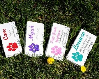 Personalized pet memorial stones, 7 colors pet memorial stone, dog memorial stone, cat memorial stone, pet grave marker, pet headstone