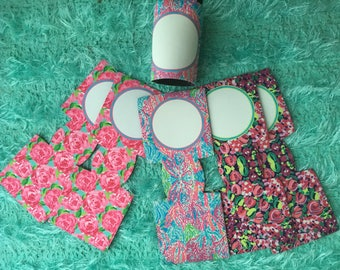 Lilly pulitzer style can cooler can cozy blank