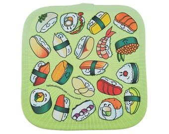 Sushi Potholder Gift, Cooking Potholder, Padded Hot Pad Gift, Hot Potholder, Fabric Potholder, Baking Potholder, Monogram Potholder, Oven