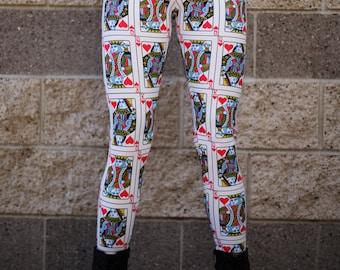 King & Queen of Hearts Leggings (size Medium)