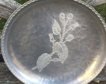 Forged Metal Plate Hand Forged Metal Tray Hammered Serving Plate Metal Tray Metal Plate Raspberry Plant Wild Raspberry LOVE it All Boutique