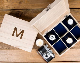 Adventure Alphabet Personalised Watch Box - Gift For Him - Gift for Her - Gift for Husband - Father's Day Gift - Watch Storage - Fathers Day