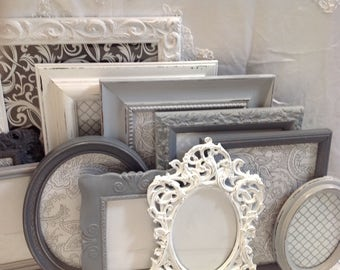 Shabby Chic Picture Frame Set Ornate Mix Custom Colors Vintage Mix