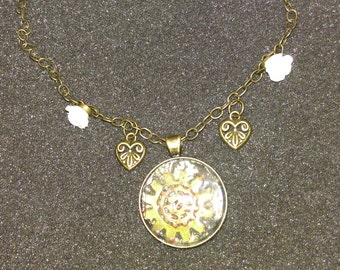 Cog Bezel Chained Necklace