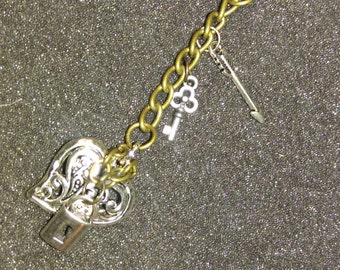 Chained Heart Drop Necklace