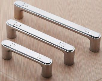 2.5'' 3.78'' 5'' Drawer Pulls Handles Knobs Dresser Pulls Silver Chrome Unique Kitchen Cabinet Door Knobs Pulls Handle Cupboard 64 96 128mm