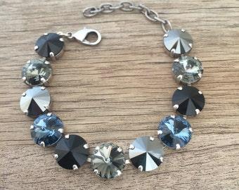 Swarovski Crystal 12mm Rivoli Bracelet