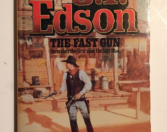 J T Edson Set The Fast Gun Mass Market Paperback A Floating Outfit Story 1981